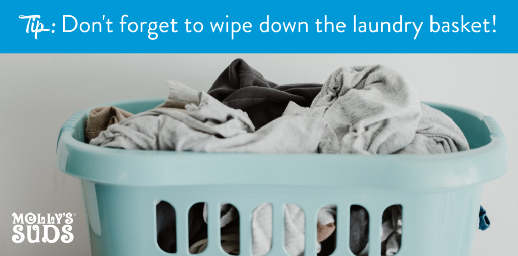 Clean your laundry hamper