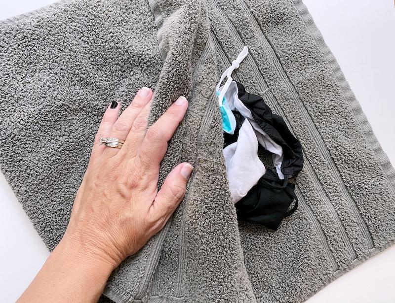 Towel Dry Masks After Washing